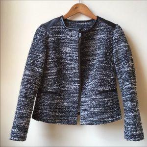NWT Ann Taylor Black & White tweed jacket